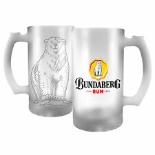 Bundy Bundaberg Rum Frosted Stein Glass Man Cave Bar Beer Spirit Gift 500ml