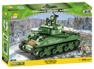 Cobi 2550 - Sherman M4A3E2 Jumbo Tank (716pcs) Building Blocks - WWII