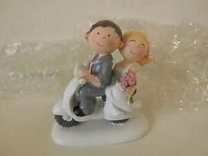 Hochzeitsfigur Brautpaar motorisiert klein, Locnika Tisch- und Tortendekoration