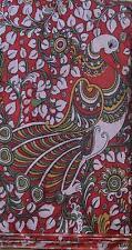 Cotton kalamkari block print fabric - 100 cms length classic d3