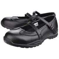 Amblers FS55 Ladies Mary Jane Black Safety Shoe  3-9 