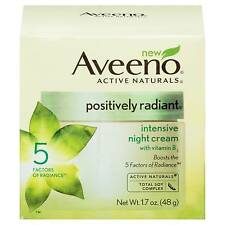 Aveeno Positively Radiant Intensive Night Cream With Vitamin B3 1.7 Oz