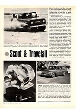 1966 SCOUT & TRAVELALL  ~  ORIGINAL NEW CAR PREVIEW ARTICLE / AD