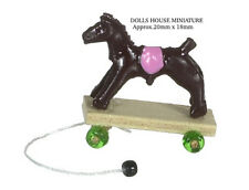 Pull Along Horse On Wheels, Dolls House Nursery, Miniature 1.12th Scale