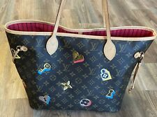 Louis Vuitton Tasche Monogram Canvas Love Lock Neverfull MM M44364