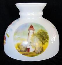 "10"" GLASS oil lamp SHADE ALADDIN BRAND LIGHTHOUSES 4 SCENES alladin student M544"
