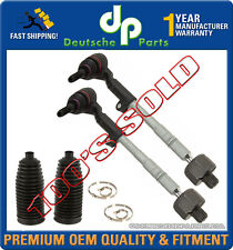 STEERING TIE ROD RODS END + RACK BOOT for BMW E90 E91 E92 Xi xDrive SET 4