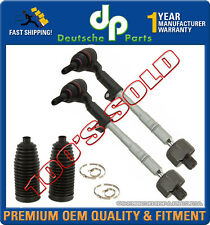 STEERING TIE ROD RODS ASSEMBLY + RACK BOOT for BMW E90 E91 E92 Xi xDrive SET 4