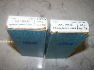 """Lot Of 2 Pair National Hardware 512RO Door Hinges, 3-1/2"""" Dull Brass Butts"""