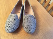 F&F Silver Sparkly Slip On Pumps UK 5
