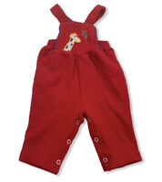 VINTAGE Buster Brown Jumper Overalls Baby One Piece Size 6-9M Red Giraffe