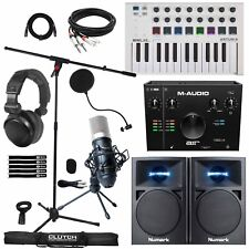 Home Recording Bundle Air 192 Audio Interface w Speakers, Keyboard & Mic