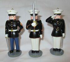 Bradford Edition U.S. Marine Corps Nutcracker Ornament 88081 (set of 3)