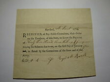 1782 Connecticut Pay Table Office Colonial Currency Note Bill! Hartford CT