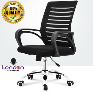 Ergonomic Mesh Office Chair Medium Back Computer Pc Desk Adjustable Swivel Seat