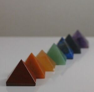 7-Piece Chakra Pyramid Set, Reiki Healing Energy