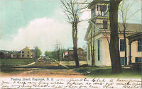 Hagaman NY ~ Pawling Street Montgomery County ~ Hand Colored Postcard