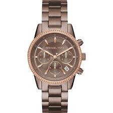 Michael Kors MK6529 Women's 'Ritz' Quartz Stainless Steel Casual Brown Watch