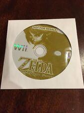 DAMAGED Legend of Zelda Twilight Princess Not For Resale Demo Disc Nintendo Wii