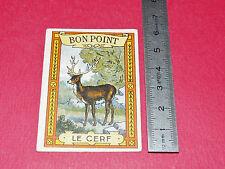 CHROMO 1910-1920 BON-POINT ECOLE IMAGE RECOMPENSE BLEDINE JACQUEMAIRE CERF