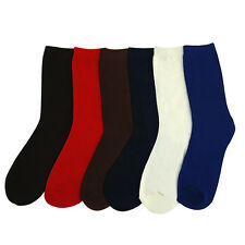 6 Pairs: Women's Solid Crew Socks