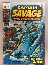 CAPTAIN SAVAGE and his BATTLEFIELD RAIDERS  #11  Marvel 1969    WAR