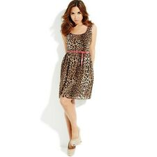 BNWT MYLEENE KLASS LEOPARD PRINT PINK TRIM 50'S ROCKABILLY  DRESS SIZE 14