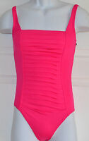 NWT Calvin Klein Pleated Front One-Piece Swimsuit Sz 6 Rose (K1)