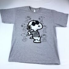 Vintage Snoopy Joe Cool Peanuts Gray T-Shirt Size L Large #36