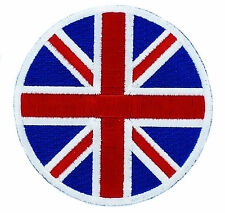 PATCH PATCHES TARGET SCOOTER UNION JACK BADGE UK FLAG BRITISH