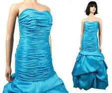 Alfred Angelo Prom Dress Sz S Blue Strapless Wiggle Long Mermaid Wedding Gown