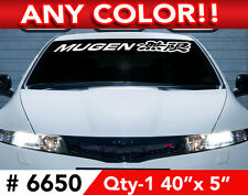 """MUGEN WINDSHIELD DECAL STICKER 40""""x5"""" ANY 1 COLOR"""