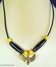 Men's Choker Sacred Dancer Charm Leather Cord Necklace