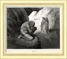 INFERNO: PLUTO,Dio di Ricchezza.Gustave Doré.Divina Commedia.Dante.Virgilio.1890