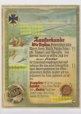 Äquatortaufurkunde   Linientaufe - Kreuzer Emden - Fischer