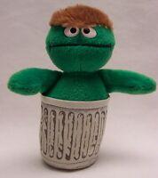 "Appplause Sesame Street OSCAR THE GROUCH 5"" Plush STUFFED ANIMAL Toy"
