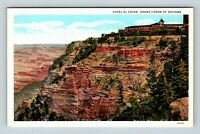 Grand Canyon AZ, Rim, Scenic View, Hotel Al Tovar, Vintage Arizona Postcard