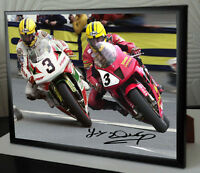 "Joey Dunlop Framed Canvas Signed ""Great Gift"""