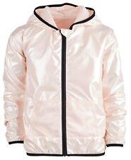 Ideology Big Girls Pearlized Hooded Windbreaker Jacket Size-7/8