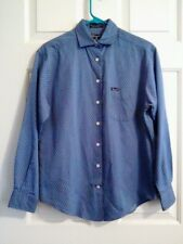 Faconnable Cornflower Diamond Pattern Button Down Shirt Size XS