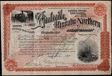 Fred T Gates  John D Rockefeller Financial Advisor 1897 Duluth Stock Certificate