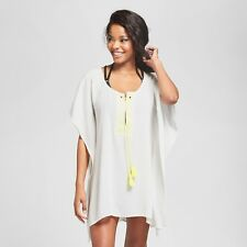 0f17a73f54552 Xhilaration White Grommet Kaftan Cover-Up Dress for Swimsuit XL NWT