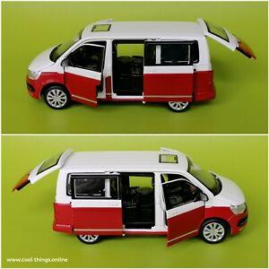 ⭐ Volkswagen Multivan T6 Diecast Metal Modelcar 1:32 Officiel Licensed by VW
