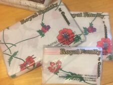 VINTAGE  Thomaston New Era Floral (1) Double FITTED And Flat SHEET  2 Pillow