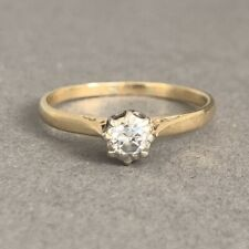 Vintage 18ct Gold Diamond Solitaire Ring 1.91g Size P