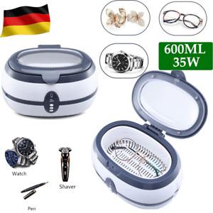 Digital Ultraschallreiniger Reinigungsgerät Timer Brillen Schmuck Reiniger 600ml