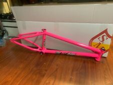 "S&M BIKES MIKE HUCKER FRAME HOT PINK 21.25 BMX BIKE 21.25"" CLARK NEON SURFER"