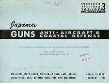 US Navy Report on Japanese Anti-Aircraft & Coastal Defense Guns, 1945