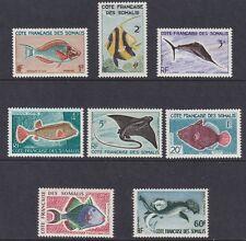 1959-60 COTE DES SOMALIS - Yvert  n° 292/303  8 valori  PESCI MNH/**