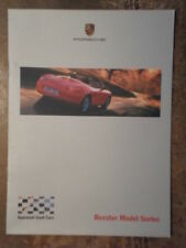 PORSCHE BOXSTER orig 2001 UK Mkt Factory Issue Model Series Brochure - S 2.5 2.7